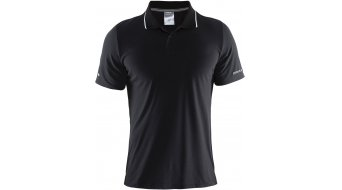 Craft In-The-Zone Pique Polo shirt short sleeve men size L black
