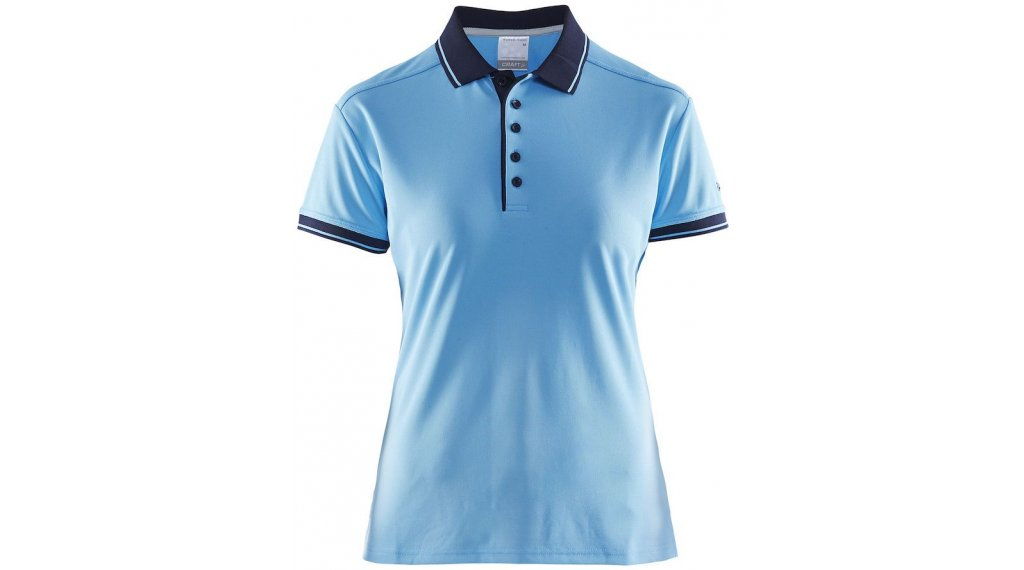 Craft Noble Pique Poloshirt 短袖 女士 型号 M aqua