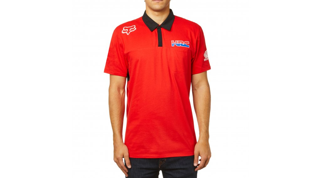 Fox Hrc Airline Polo Manches Courtes Hommes Taille Red