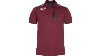 Fox Pit YS Tech Polo-Shirt kurzarm Herren burgundy