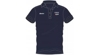 Santini Trek-Segafredo Team Poloshirt manica corta . navy
