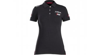 Santini Trek-Segafredo Polo shirt Women korte mouw black model 2018