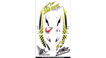 Alpinestars Graphic Kit Neck Support SB pieza de recambio tamaño amarillo fluo/negro