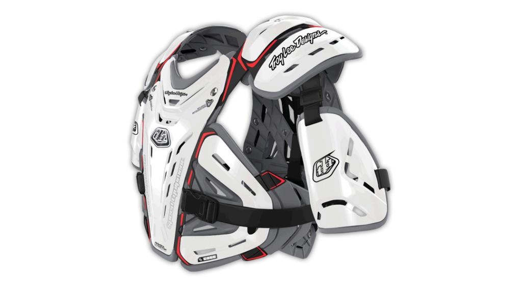 4c19958f3f Troy Lee Designs BG5955 protektor kabát Méret LG (L) white 2019 Modell