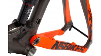 NS Bikes Snabb T 27.5/650B Frame (incl. Monarch Plus RT3 Debonair) taille M dark raw/fluo orange Mod. 2017