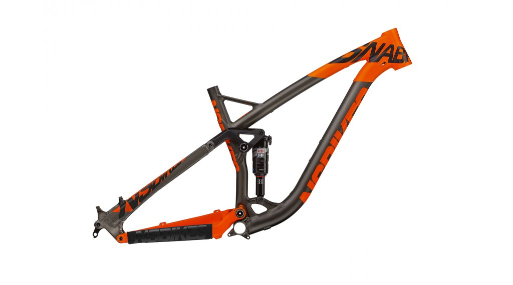 NS Bikes Snabb T 27.5/650B Frame (včetně Monarch Plus RT3 Debonair) velikost L dark raw/fluo orange model 2017