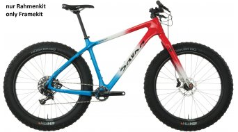 Salsa Beargrease Carbon 26 Fatbike 车架组 型号 red/white/blue fade 款型 2018