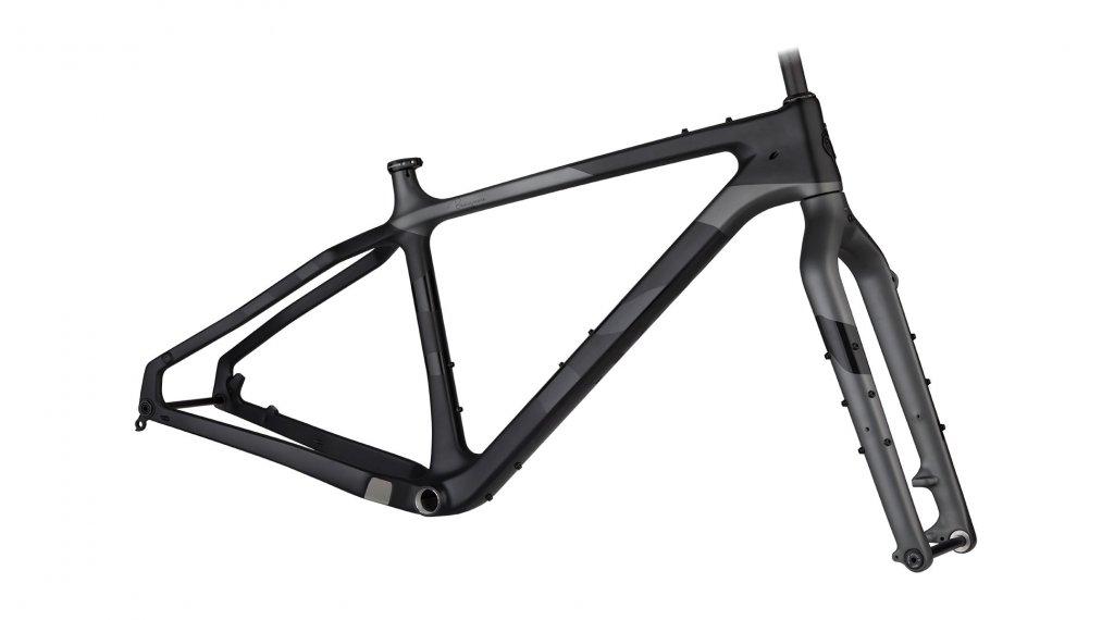 """Salsa Beargrease carbon 27.5""""/26"""" Fat bike frame kit size XS black/grey 2020"""