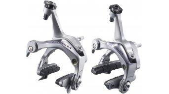 Shimano Ultegra Bremskörper silber Set VR/HR mit Bremsgummi R55C3 BR-6700 (Bulk-Verpackung)
