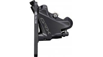 Shimano GRX BR-RX400 idraulico pinza freni Flatmount incl. L03A pastiglie organiche m. Kühlrippen nero