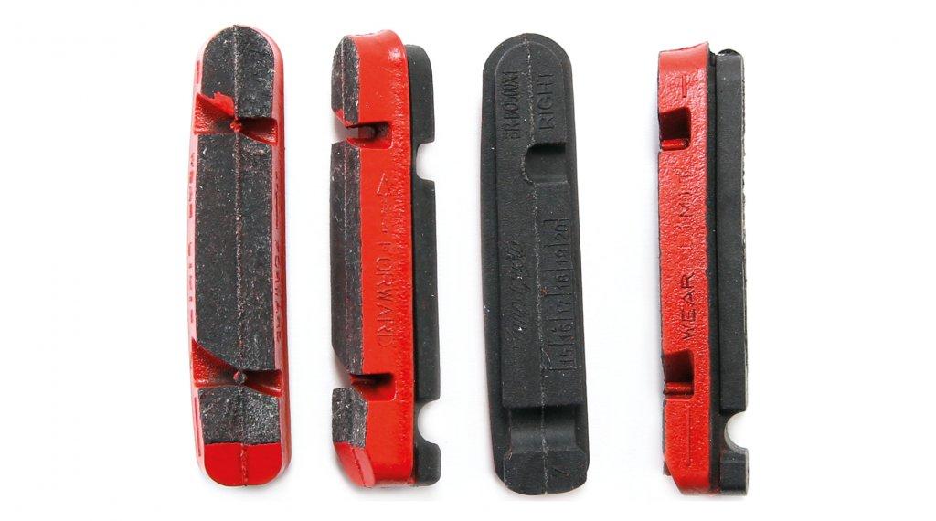 Campagnolo road bike rim-brake pads for carbon-rim set (4-Stck.) red for Shimano Dura Ace/Ultegra/105 brakes