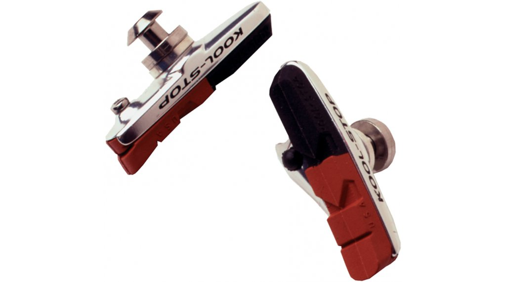 Kool-Stop Dura- type brake shoes incl. brake pads, salmon/black, dual compound