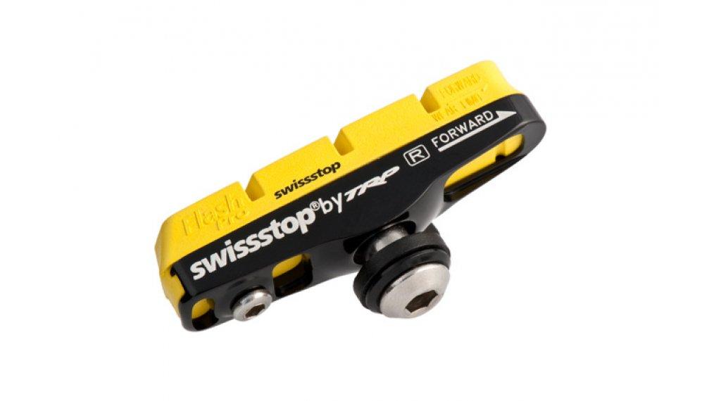 SwissStop Full Flash Pro Bremsschuh mit Beläge gelb Halter schwarz Shimano/Campa/SRAM