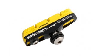 SwissStop Full Flash Pro Bremsschuh mit Halter schwarz Shimano/Campa/SRAM