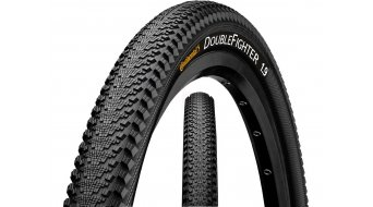 Continental Double Fighter III 24 wire bead tire black/black skin