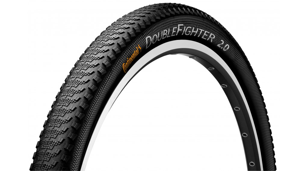 "Continental Double Fighter III 29"" Drahtreifen 50-622 (29x2.00) black/black Reflex"