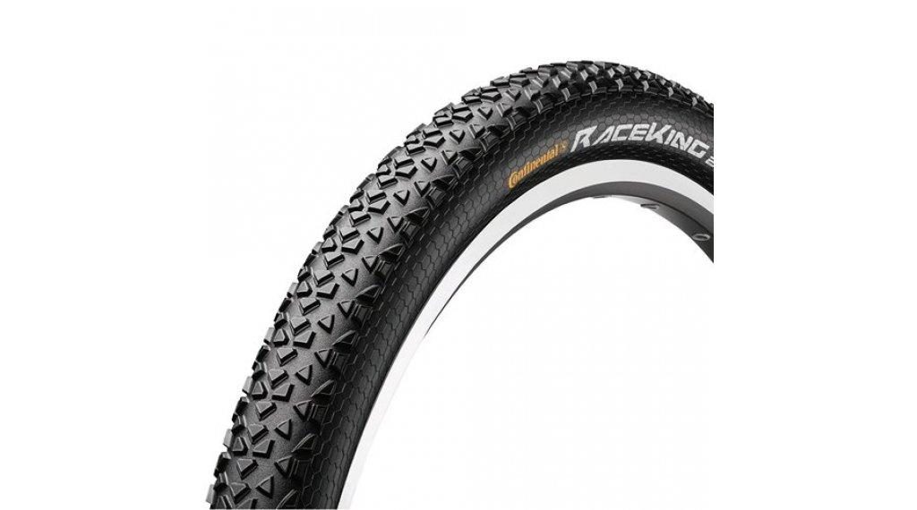 "Continental RaceKing 2.2 Performance 29"" MTB(山地)-Race-钢丝胎 55-622 (29x2.2) 黑色/黑色 Skin 3/180tpi PureGrip Compound"