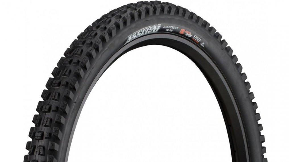 """Maxxis Assegai 29"""" Downhill(速降)-折叠轮胎 63-622 (29x2.50 (WT)) (60 TPI) 3C MaxxGrip-Compound TR + DW 黑色"""
