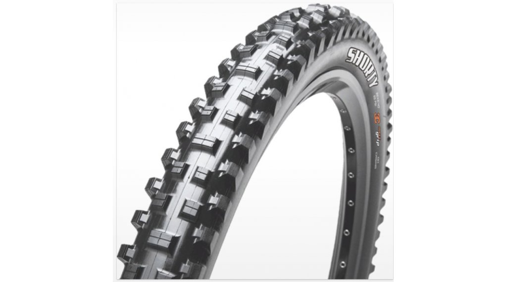 "Maxxis Shorty 27.5"" Downhill(速降)-钢丝胎 61-584 (27.5x2.40) (60 TPI) 3C MaxxGrip-Compound DW 黑色"