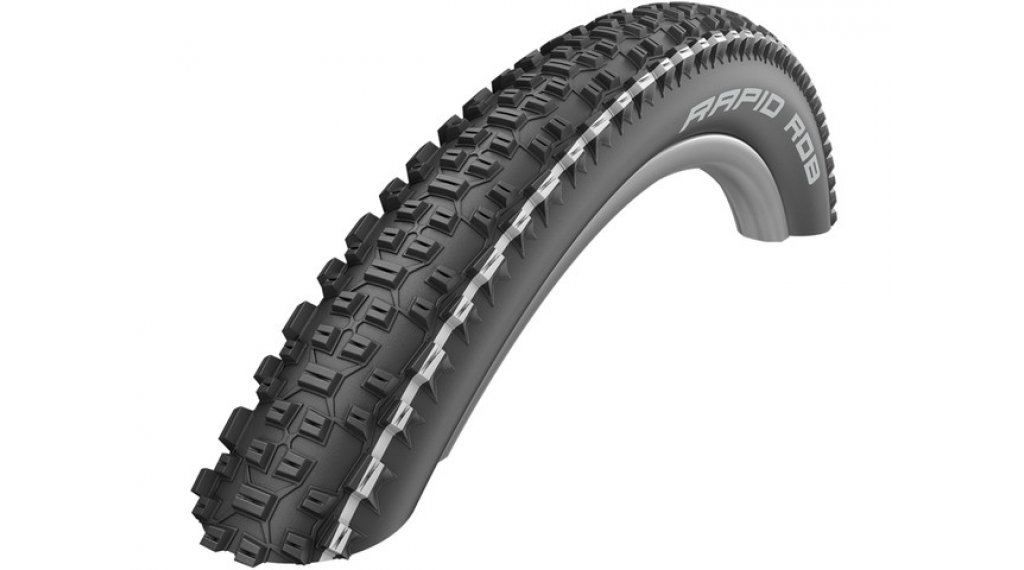 "Schwalbe Rapid Rob Active 27.5"" drótperemes külső gumi K-Guard SBC 57-584 (27.5x2.25) white stripes"