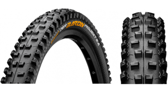 Continental Der Baron 2.4 Projekt ProTectionApex MTB-FR-cubierta(-as) plegable(-es) 60-559 (26x2.4) negro(-a) 4/240tpi BlackChili Compound