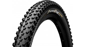 "Continental Cross King ProTection 26"" MTB(山地)-折叠轮胎 (26 x 黑色/黑色 Skin 3/180tpi BlackChili Compound"