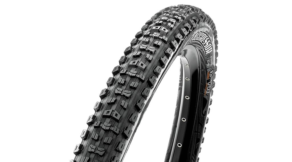 "Maxxis Aggressor 29"" MTB(山地)-折叠轮胎 63-622 (29x2.50 (WT)) (120 TPI) Dual-Compound DD + TR 黑色"