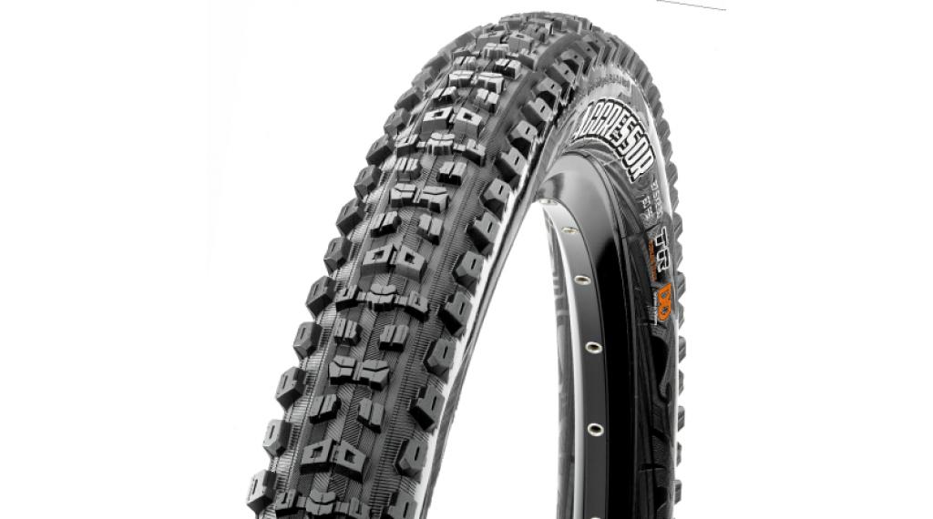 "Maxxis Aggressor 29"" MTB(山地)-折叠轮胎 58-622 (29x2.30) (60 TPI) Dual-Compound TR + EXO 黑色"
