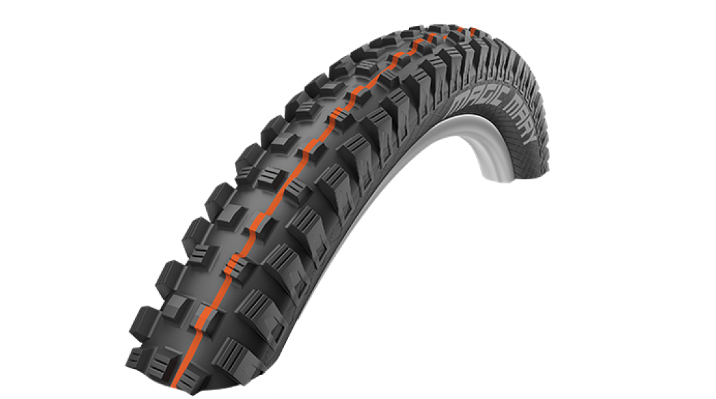 "Schwalbe Magic Mary 27.5"" folding tire Evolution SnakeSkin TL Easy Snake-Skin E-25 60-584 (27.5x2.35) Addix Soft-compound black"
