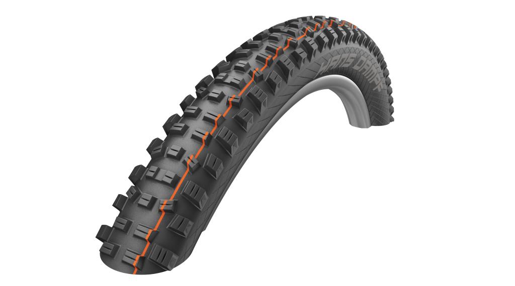 "Schwalbe Hans Dampf 27.5"" 折叠轮胎 Evolution Snake-Skin Super Gravity TL Easy E-25 60-584 (27.5x2.35) Addix Soft-Compound black"