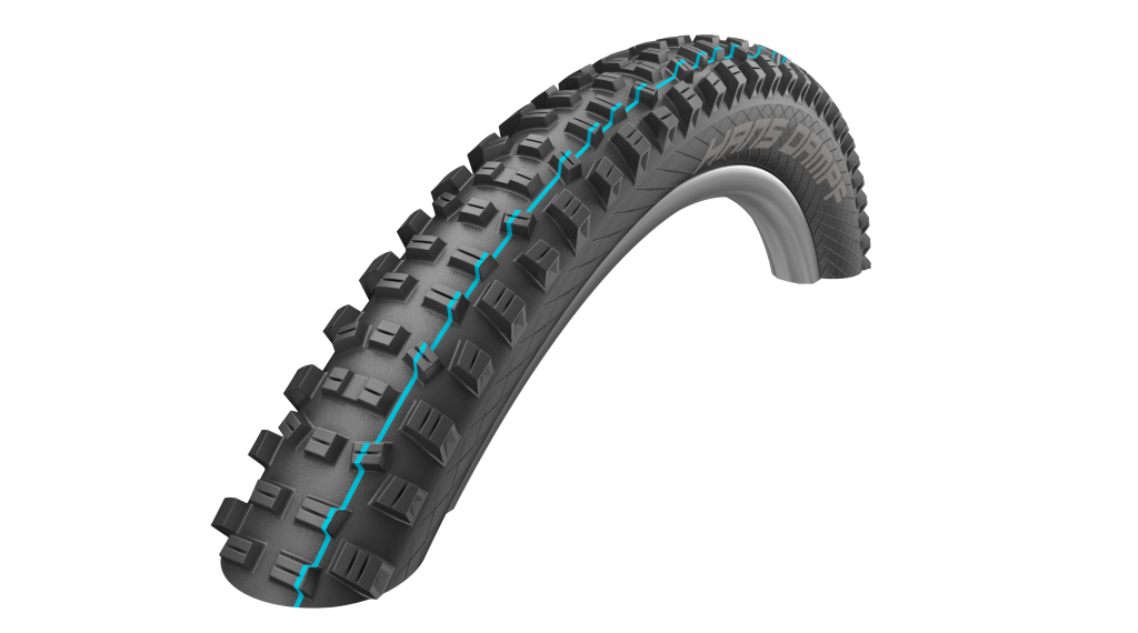 "Schwalbe Hans Dampf 27.5"" 折叠轮胎 Evolution Snake-Skin SnakeSkin TL Easy Apex E-25 65-584 (27.5x2.60) Addix Speedgrip-Compound black"