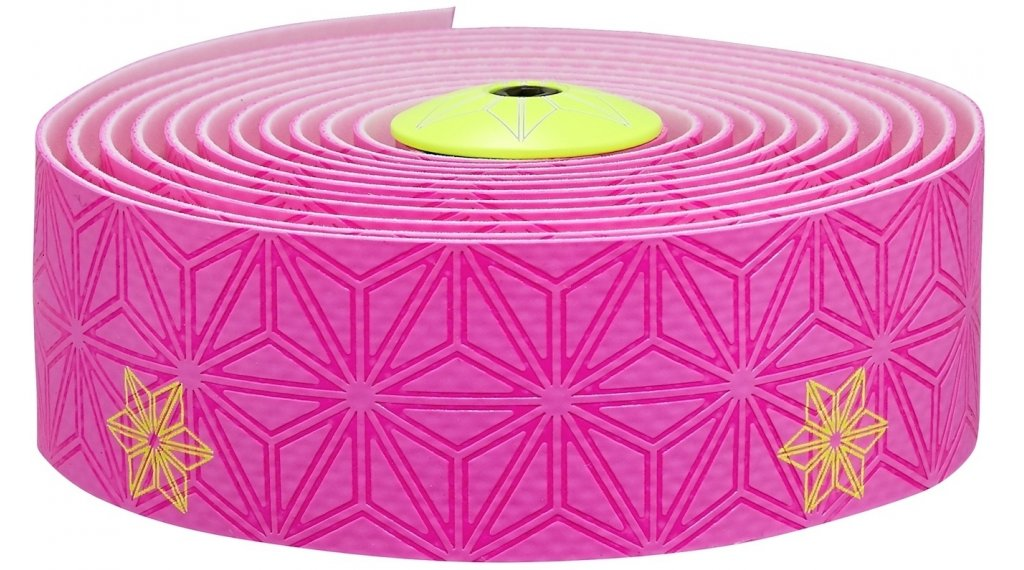 Supacaz Super Sticky Kush 车把带 Print neon 粉色/neon 黄色