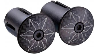 Supacaz Star Plugz 车把端塞 laser carbon