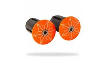 Supacaz Star Plugz handle bar end plug powder coated neon orange