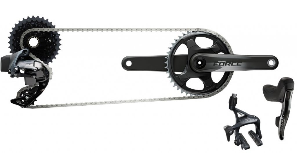SRAM Force eTap AXS 公路赛车 1x Schaltgruppenset