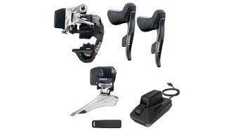 SRAM RED eTap 2x11 speed conversion kit (incl. rear derailleur, front derailleur, gearshift/brake lever, rechargable batteries, charger, USB Stick)