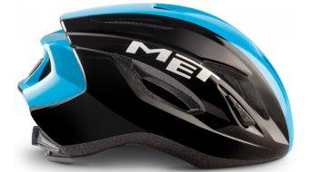 MET Strale Rennrad-Helm Gr. S (52-56cm) black cyan panel/glossy