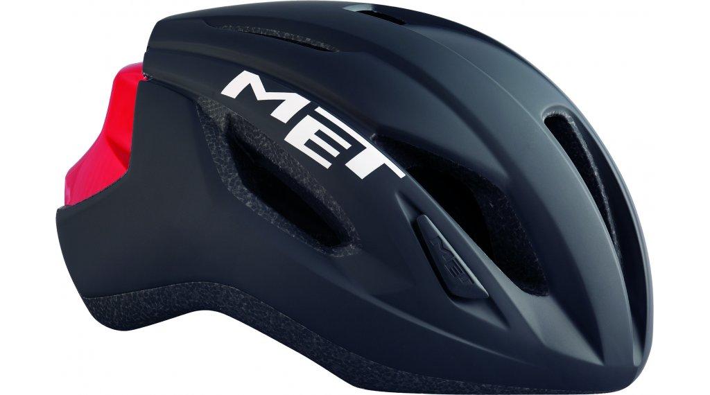 MET Strale Rennrad-Helm Gr. S (52-56cm) black red/matt glossy