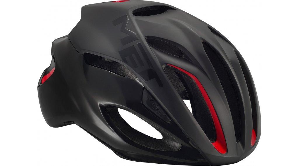 MET Rivale Rennrad-Helm Gr. M (54-58cm) black red/matt glossy