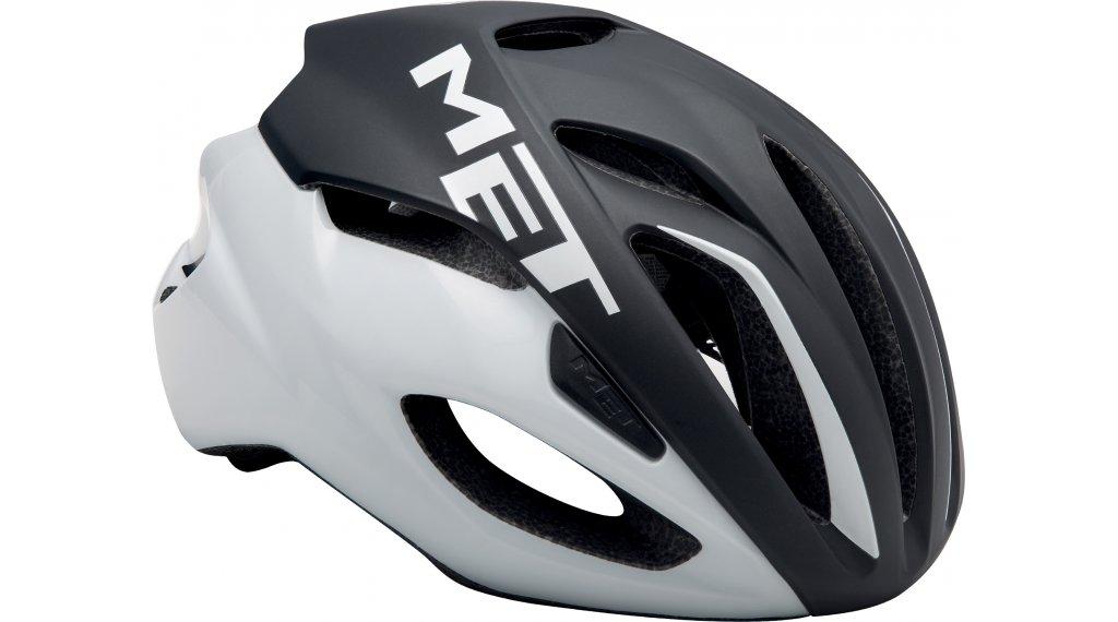 MET Rivale Rennrad-Helm Gr. M (54-58cm) black white/matt glossy