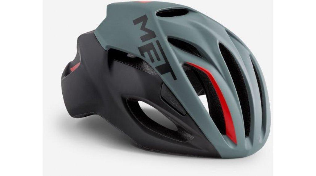MET Rivale Rennrad-Helm Gr. S (52-56cm) gray black red/matt
