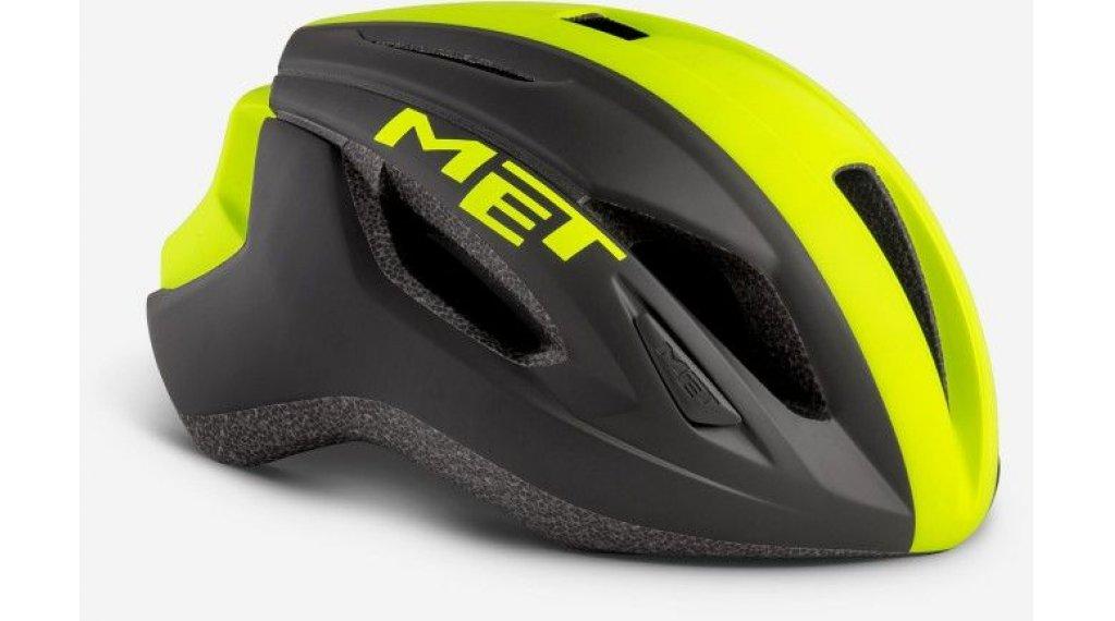 MET Strale Rennrad-Helm Gr. S (52-56cm) black safety yellow panel/matt