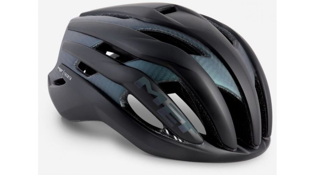 MET Trenta 3K Rennrad-Helm Gr. S (52-56cm) black iridescent