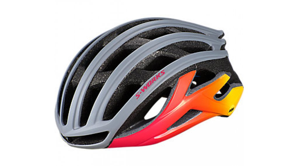 Specialized S-Works Prevail II ANGI MIPS bici carretera-casco tamaño L (59-63cm) cool gris/acid rosa/golden amarillo