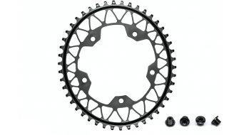 absolute Black 椭圆的 Gravel 牙盘 1速 5-孔 (110mm) 44 齿 黑色