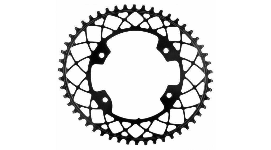 absolute Black ovales Gravel Kettenblatt 1-fach 4-Loch (110mm) 50 Zähne schwarz