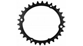 absolute Black 椭圆的 公路赛车 牙盘 sub compact 4-孔 (110mm) 30 齿 黑色