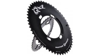 ROTOR QXL-Ring Aero Kettenblatt Shimano 2fach 4x110 53T außen schwarz