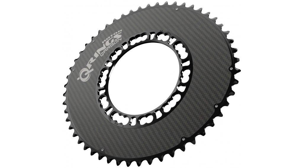 ROTOR Q-Ring Aero Carbon Kettenblatt 2fach 5x110 53T außen schwarz