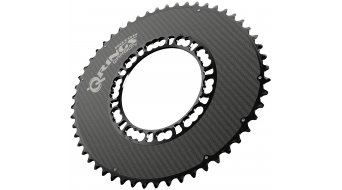 rotor Q-ring Aero carbon chain ring 2 speed 5x110 outside black